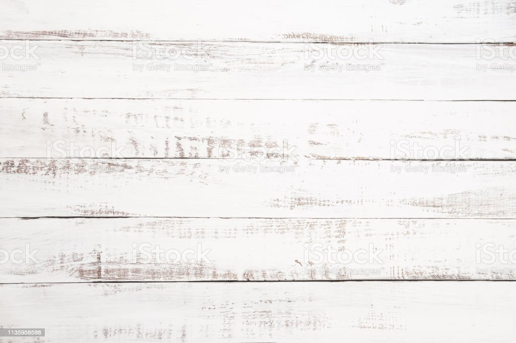 witte houten plank achtergrond - Royalty-free Abstract Stockfoto