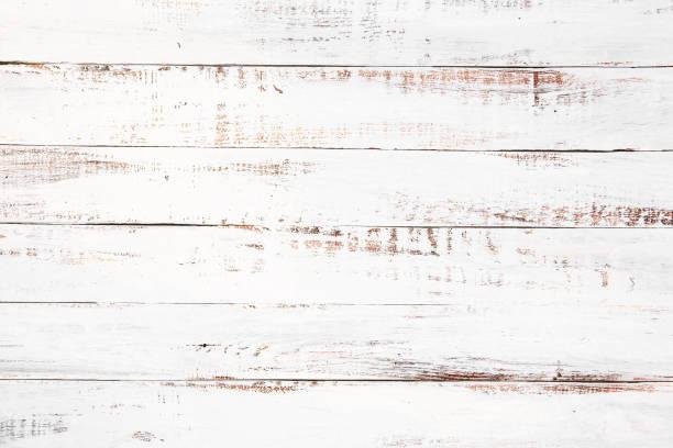 Weißer Holzfußboden – Foto