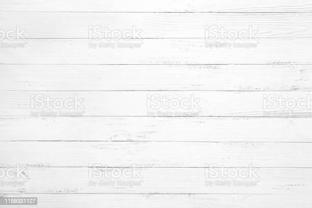 Photo of white wood plank background