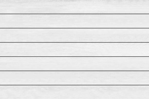 white wood plank texture background - palisade boundary stock photos and pictures