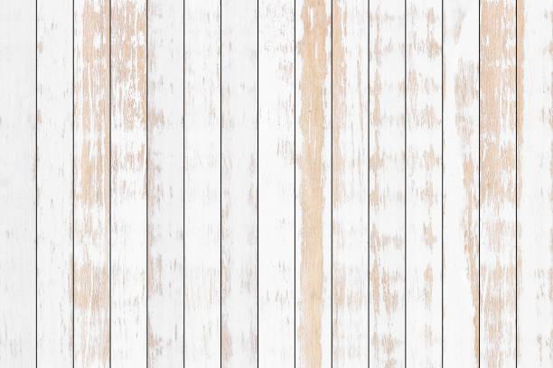 Weiße Holzbohle Textur Hintergrund – Foto