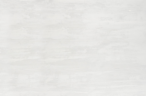 White wood plank with shabby and scrapes as background, horizontal line.