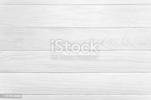 White wood texture background, wooden table. Top view. Rustic