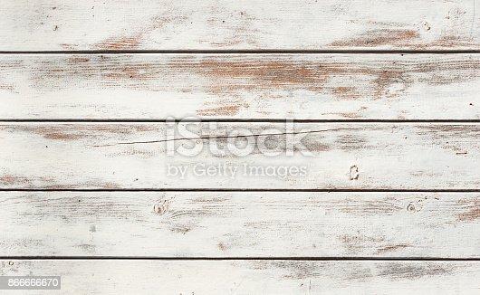 White wooden planks background.