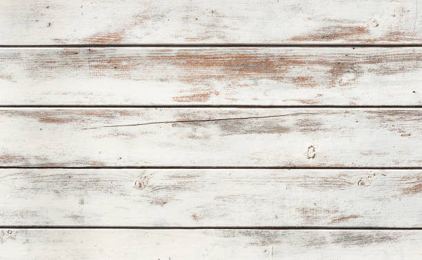 texture en bois blanc - style rustique photos et images de collection
