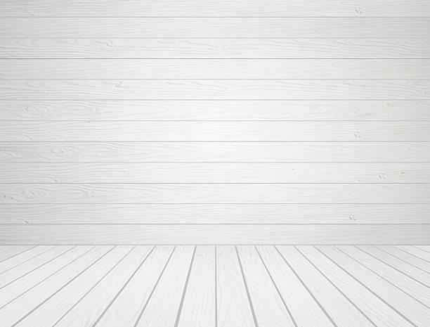 Weiße Mauer und Holz Boden Hintergrund – Foto