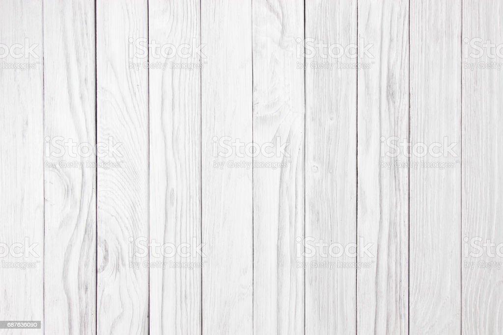 vintage vieux mur bois blanc à l'aide de fond classique - Photo