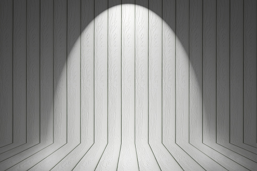 white wood wall with light for pattern and background