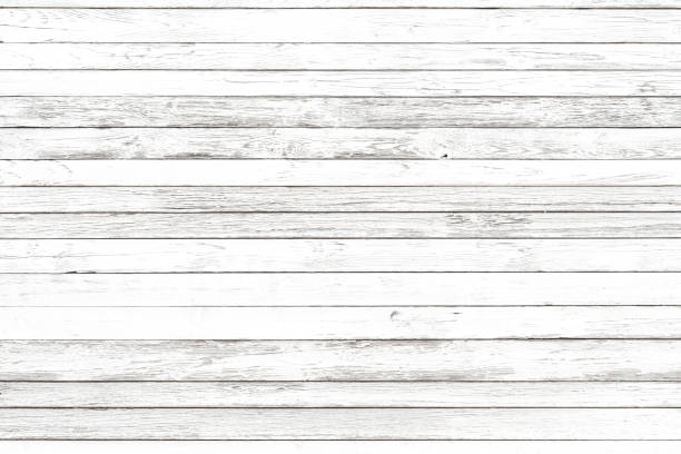 White wooden background with copyspace. Top view stock photo