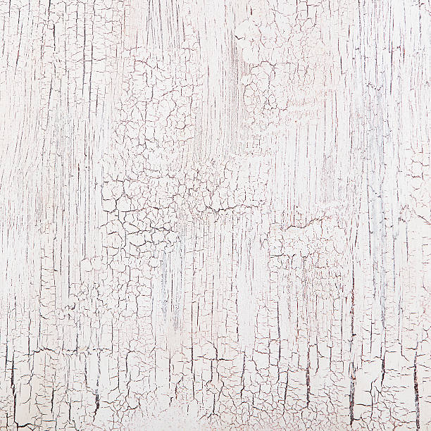 White wooden background with crackling effect High resolution Copy space stock photo