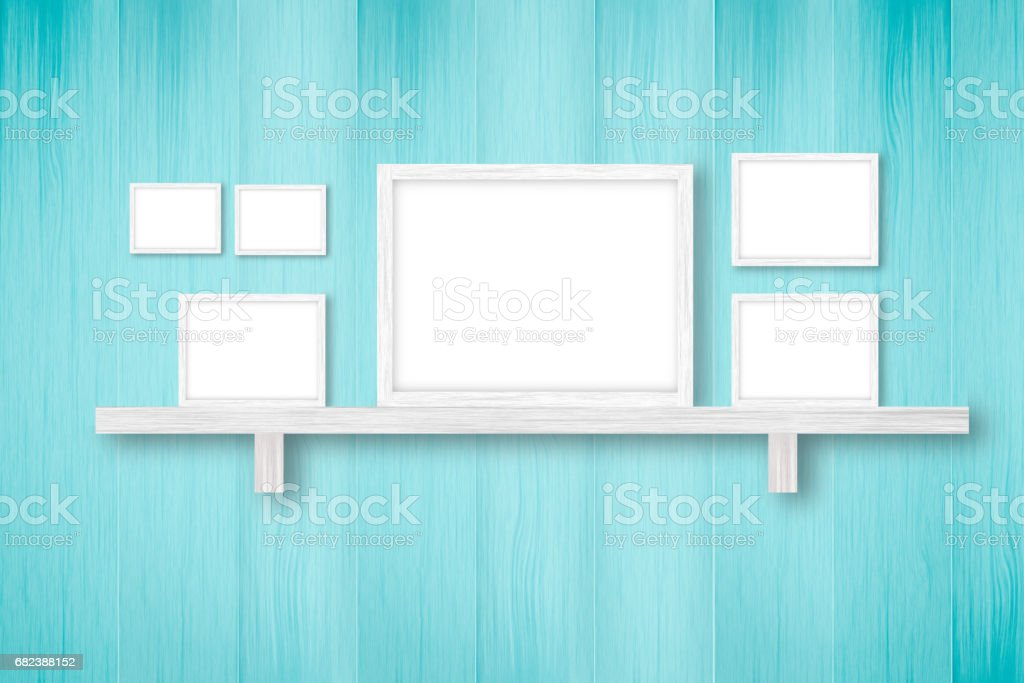 fond en bois blanc avec armatures blancs, décoration d'intérieur, illustration 3D photo libre de droits