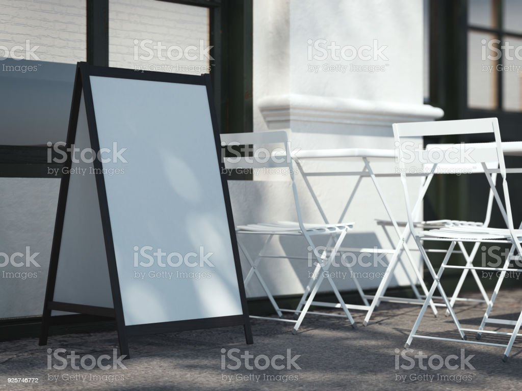 White wooden board. 3d rendering stock photo