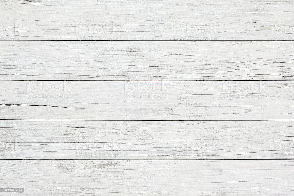 White wooden board background