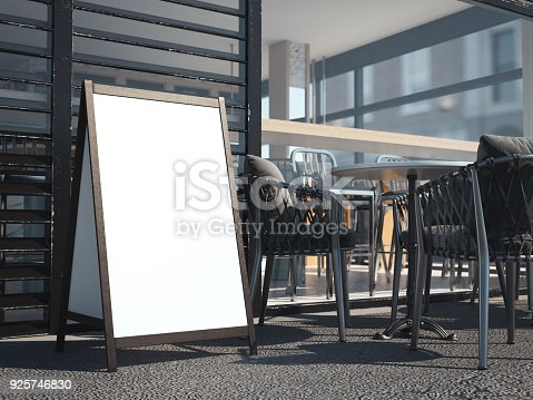 istock White wooden board for restaurant menu. 3d rendering 925746830