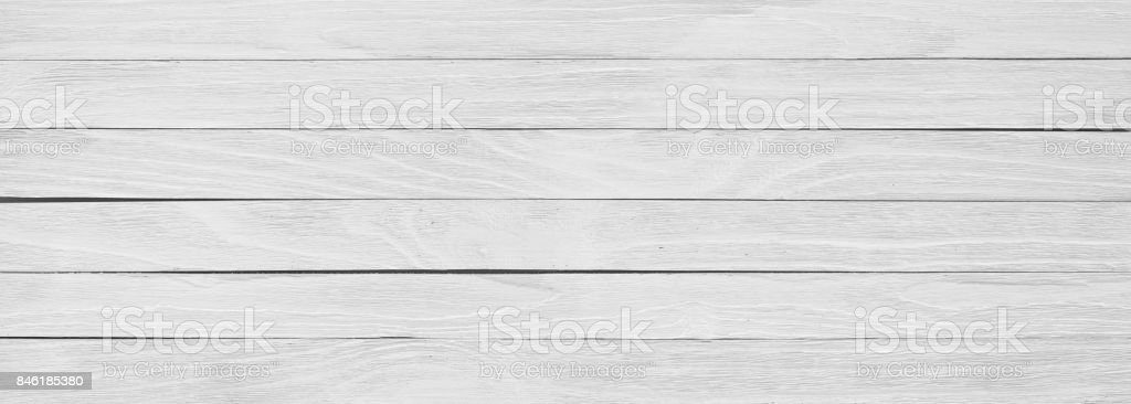 White wooden board, panoramic view of table or floor stock photo