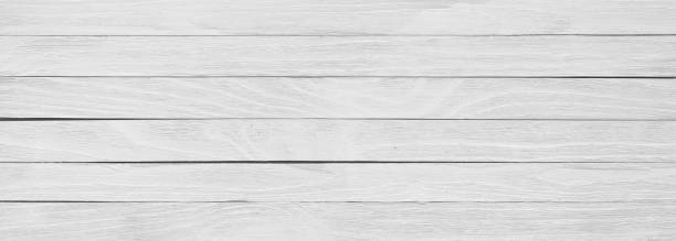 White wooden board, panoramic view of table or floor White wood texture close-up, background of a wooden table surface, panorama whitewashed stock pictures, royalty-free photos & images