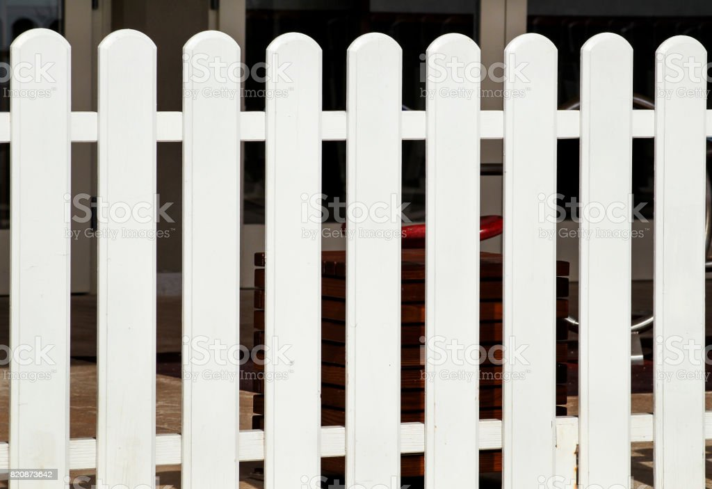 White Wooden Decorative Fence Isolated Plank Panel Background Texture Landscape Architecture Ideas