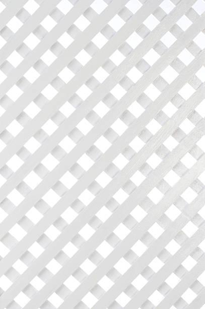 Celosía de madera blanca - foto de stock