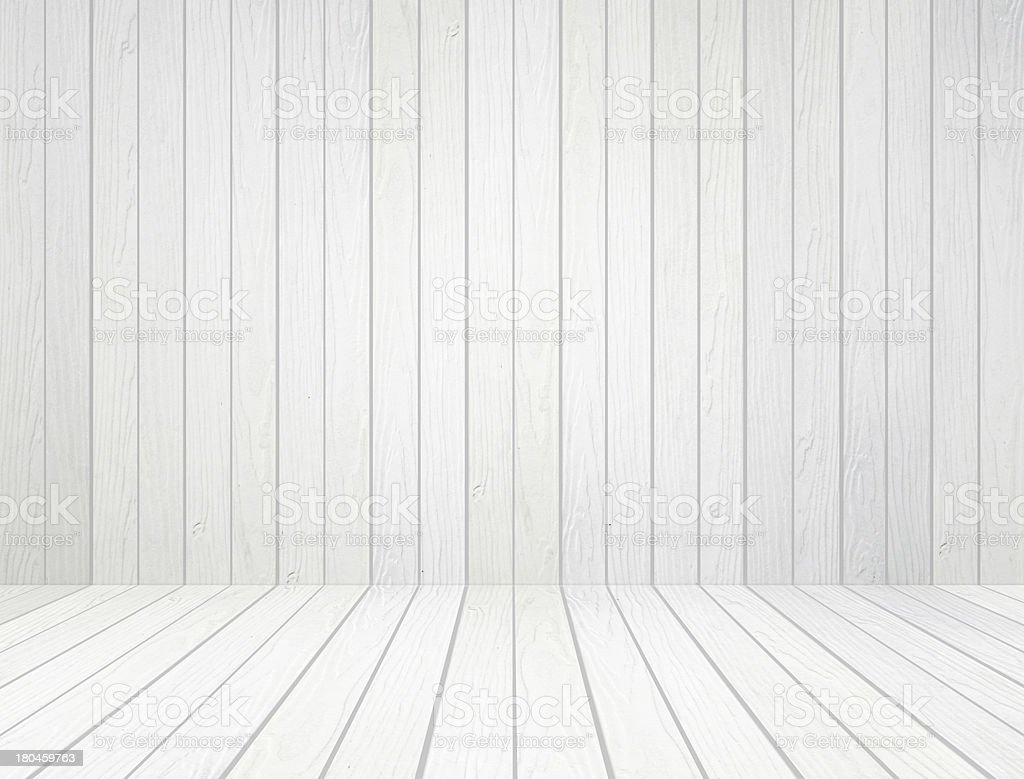 White Wooden Panels On Floor And Wall Stock Photo Istock