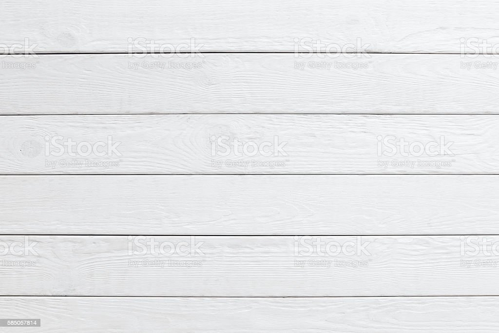 White wooden planks background. horizontal - Photo