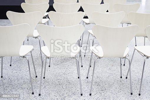 istock White wooden seats 690522342
