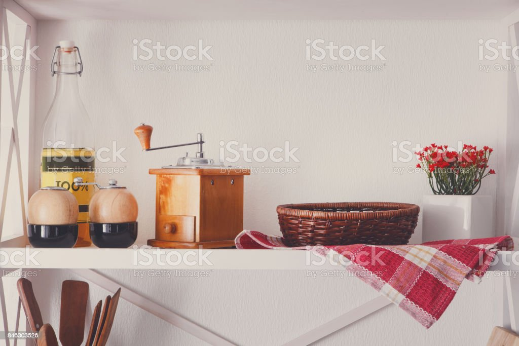 Estante De Madera Blanco Muebles Rusticos De Cocina Foto de ...