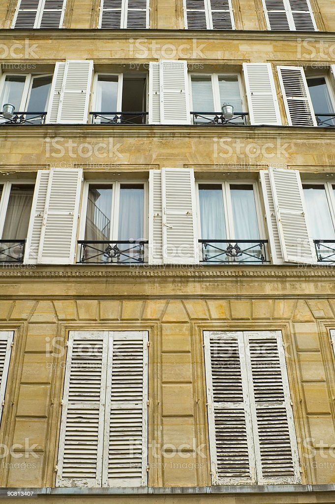 White wooden shutters royalty-free stock photo