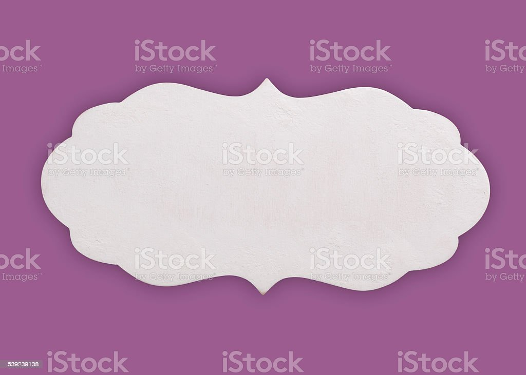 White wooden sign royalty-free stock photo