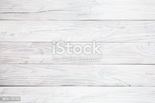 istock White wooden table background 625715120