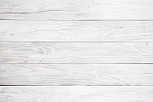 White wooden table background