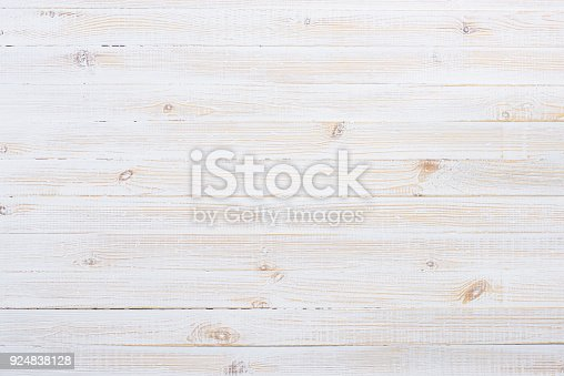 istock White wooden table background 924838128