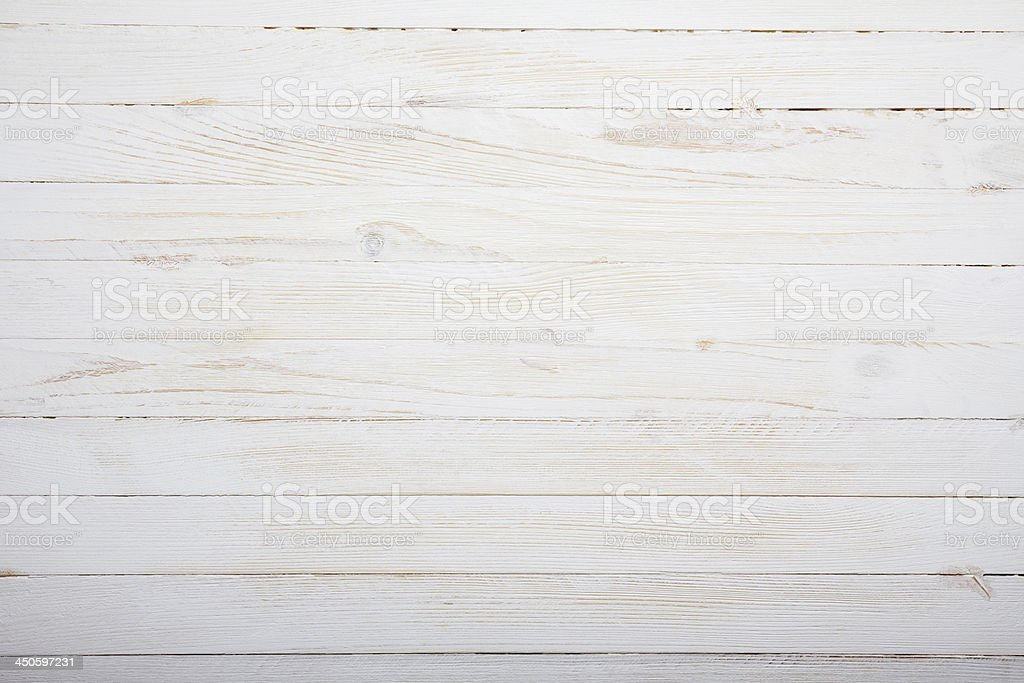 White Wooden Table Background Top View Royalty Free Stock Photo