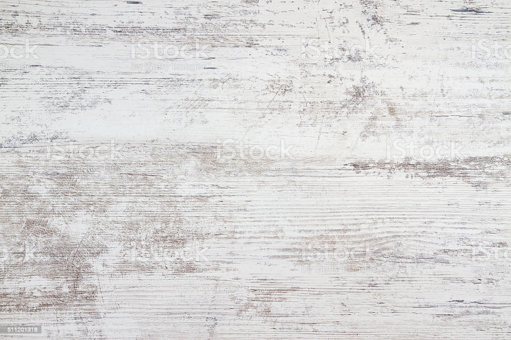 White Wooden Table Texture Background