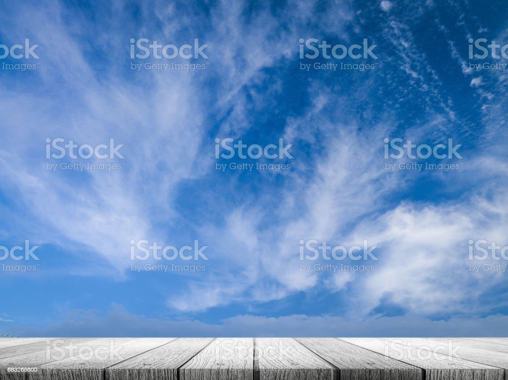 White wooden tabletop 免版稅 stock photo
