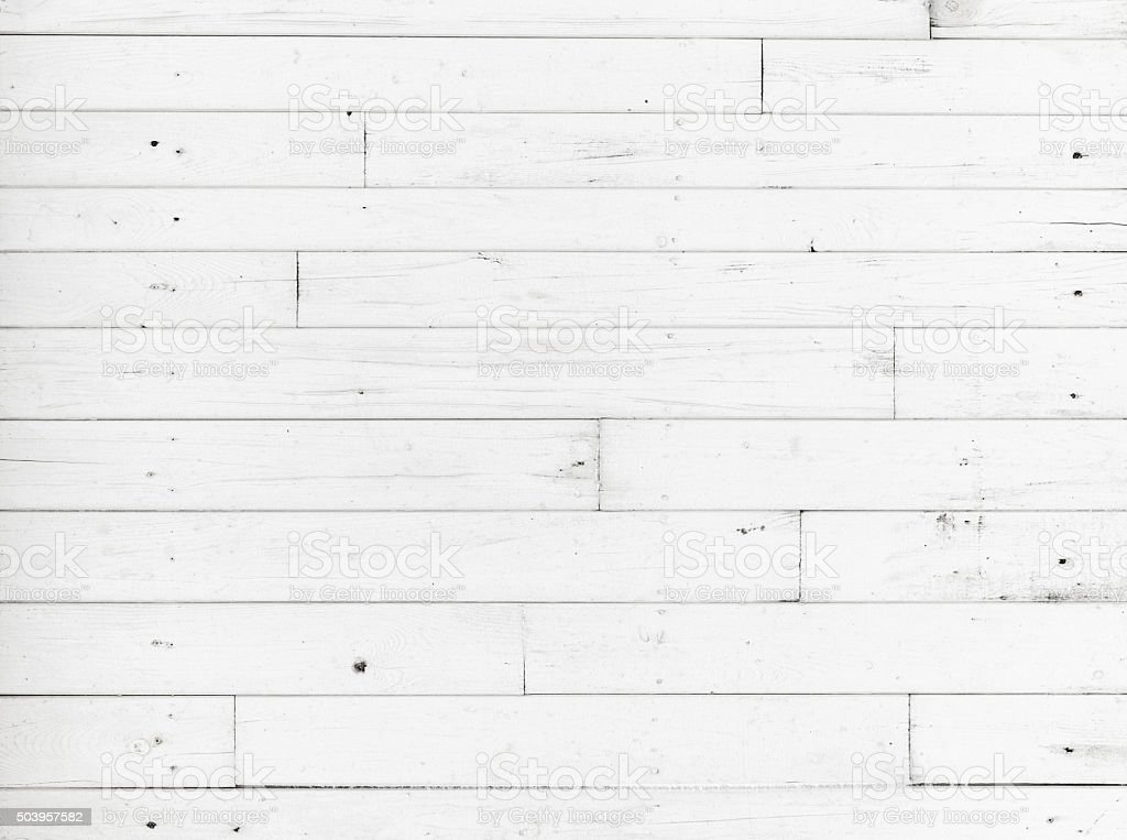 White wooden wall, detailed background texture stock photo