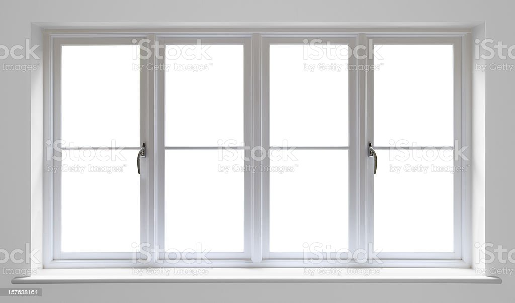 white wooden window royalty-free stock photo