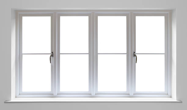 white wooden window stock photo
