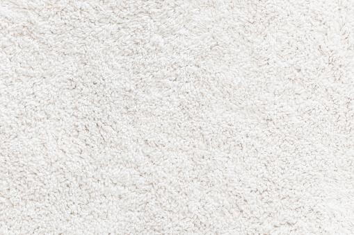 White wool rug textured