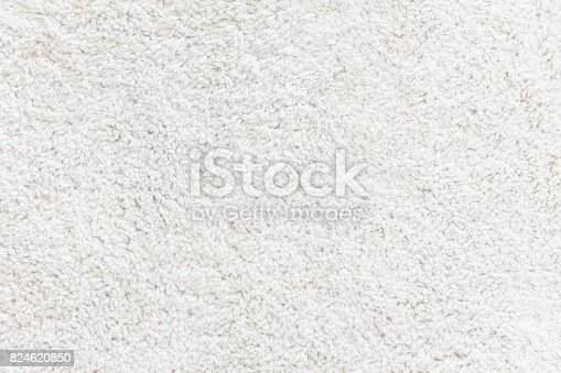 White wool rug textured