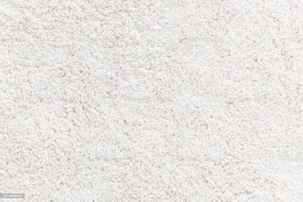 Alfombra de lana blanca con textura - foto de stock