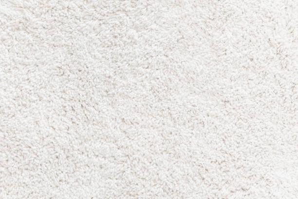White wool rug textured stock photo