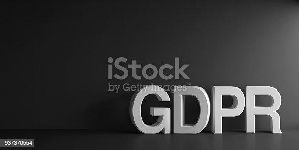 istock White word GDPR 937370554