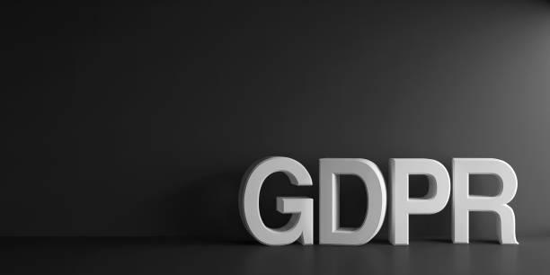 Blanco palabra GDPR - foto de stock