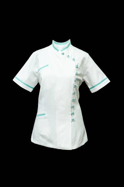 white working medical shirt stock photo