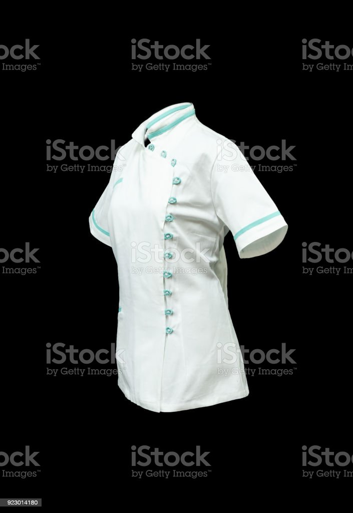 white working medical shirt stock photo