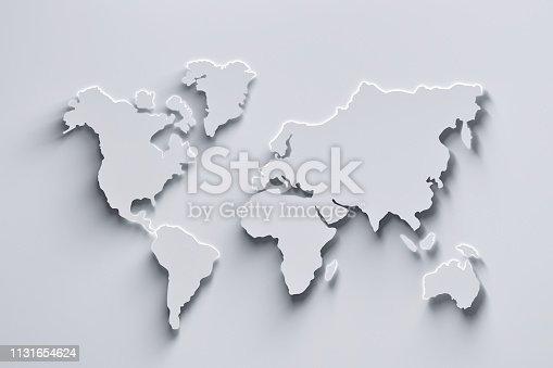 istock White world map 1131654624