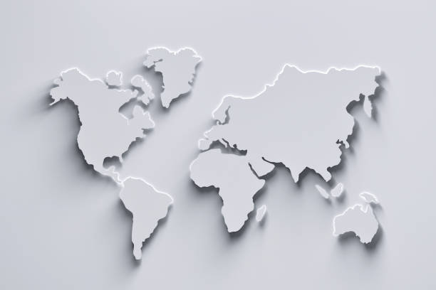 white world map - world map stock pictures, royalty-free photos & images
