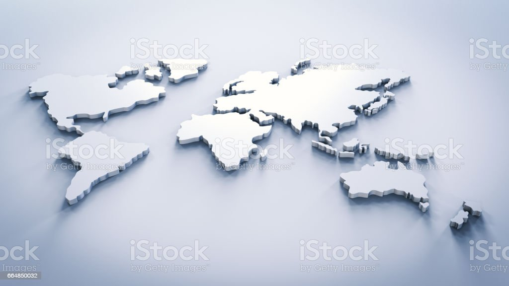 white world map stock photo