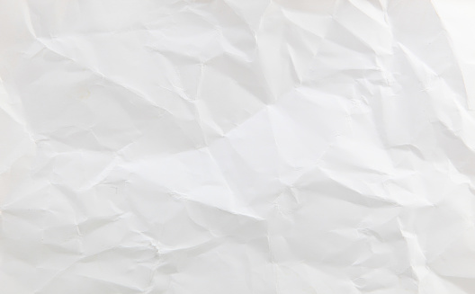 White wrinkle paper texture background.