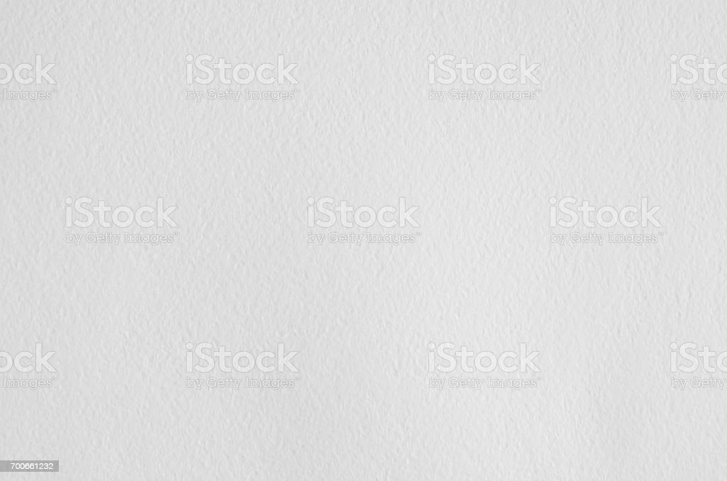 White wrinkled watercolor paper texture. stock photo